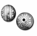 Fancy Sterling Silver 10mm Aztec Bead (1PC)