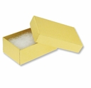 Gold Linen Jewelry Gift Box  2.5 X 1.5 X 7/8