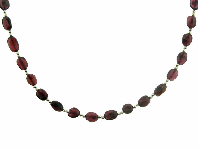 Garnet and Silver Necklace