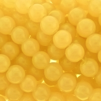 10mm Yellow Jade Round Glass Beads 16 inch Strand