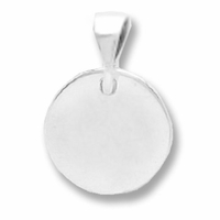 Sterling Silver Blank Round Pendant