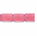 Czech Glass Milky Plum,10x7mm Faceted Rectangle Beads (12PK)