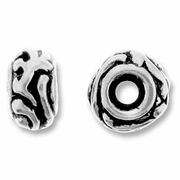 Antique Silver Large Woodland Bead