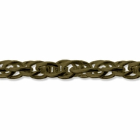 Antiqued Brass 6x4mm Twisted Oval Rope Chain (1FT)