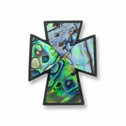 40mm Paua Abalone Cross Pendant