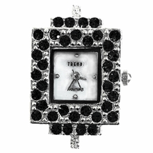 Rectangle Jet Austrian Crystal Watch Face