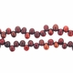 4-5mm Cranberry Top Drilled Freshwater Pearl  4-5mm Bead Strand