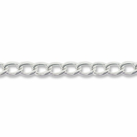 Silver Plated 6x3mm Curb Chain (1FT)