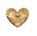 18mm Crystal Golden Shadow Swarovski Truly in Love Heart