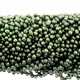 Forest Green Top Drilled Freshwater Pearl  4-5mm Bead Strand