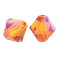 Crystal Astral Pink 5328 6mm Xilion Bicone Crystal Beads (10PK)