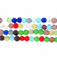 Chinese 4mm Round Mixed Round Crystal Beads 16in Strand