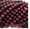 Dark Cranberry Potato Freshwater Pearl 6-7mm Bead Strand