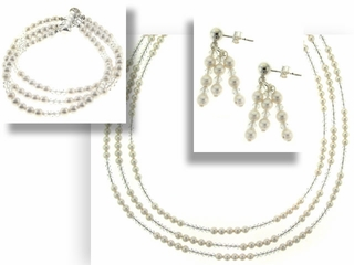 Classic Pearl and Crystal Jewelry Set