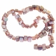 Pink 8x6mm Natural Nugget Mother of Pearl  Beads 16 Inch Strand