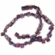 Purple 8x6mm Natural Nugget Mother of Pearl  Beads 16 Inch Strand