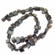 Silver 8x6mm Natural Nugget Mother of Pearl  Beads 16 Inch Strand