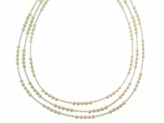Classic Pearl and Crystal Necklace