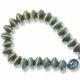 Porcelain Bead, Turquoise  8x12mm Rondelle (16 inch strand)