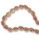 Porcelain Beads, Pink 11x9mm Fancy Oval (16 Inch Strand)