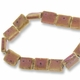 Porcelain 18 x 16mm Rectangle Bead Pink (1 Strand)