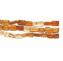 Hessonite 6x4mm Flat Rectangle (D) Beads 14 Inch Strand