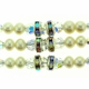 Elegant White Pearl Three Strand Choker Necklace