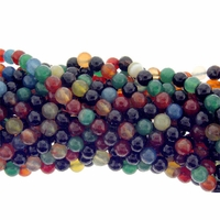 6mm Mixed Faceted Agate Beads 16 Inch Strand