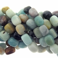 Amazonite Matrix 14-16mm Nugget 16 Inch Strand
