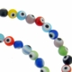 Turkish Glass Evil Eye 6mm Round Mixed Beads 16-inch Strand