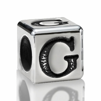 4.5mm Sterling Silver Alphabet Bead Letter G