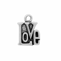 Sterling Silver Small LOVE Charm