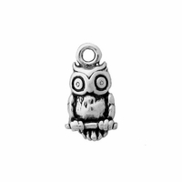 Sterling Silver Small Owl Charm