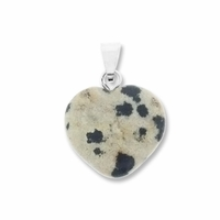 Dalmatine 15mm Heart Gemstone Pendant