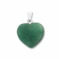Green Aventurine 15mm Heart Gemstone Pendant