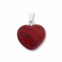 Red Jasper 15mm Heart Gemstone Pendant