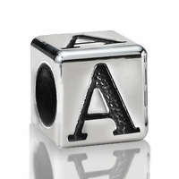 5.6mm Sterling Silver Alphabet Beads Letter A