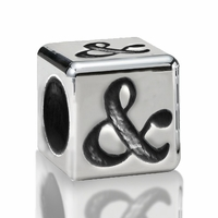 5.6mm Sterling Silver Alphabet Beads Ampersand Shape (&)