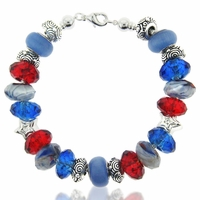 Americana Large Hole Beadable Bracelet Idea