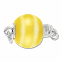 Yellow Cats Eye Bead Clasp (1PC)