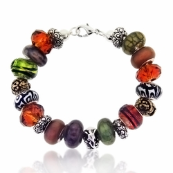 Safari Large Hole Beaded Bracelet Design Idea