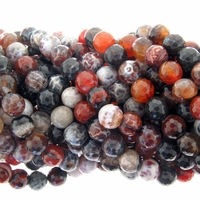 10mm Natural Faceted Round Beads 15 Inch Strand