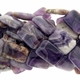 Amethyst Quartz 18x25mm Rectangular Beads 16 inch Strand