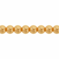 Pearls Imitation Yellow 4mm Round Beads (100PK)