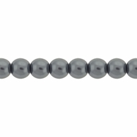 Pearls Imitation Grey 4mm Round Beads (100PK)