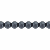Pearls Imitation Dark Grey 4mm Round Beads (100PK)