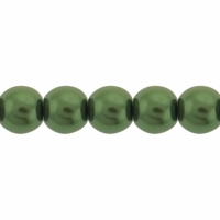 Pearls Imitation Olivine  6mm Round Beads (100PK)
