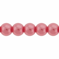 Pearls Imitation Light Rose 6mm Round Beads (100PK)