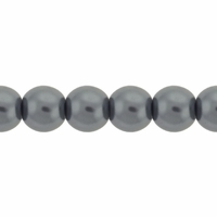 Pearls Imitation Grey 6mm Round Beads (100PK)