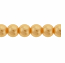 Pearls Imitation Yellow 6mm Round Beads (100PK)